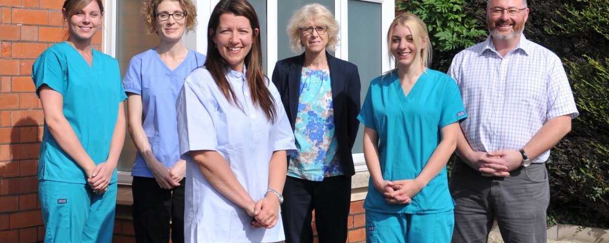 The staff of Townes & Townes dental practice in Stonehouse